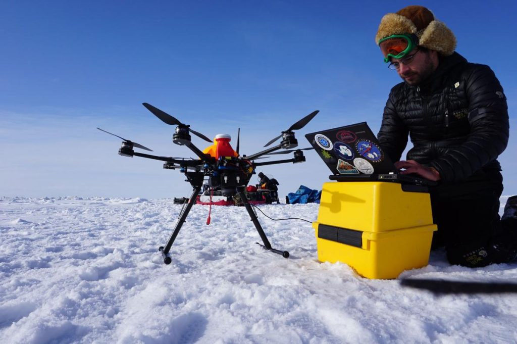 drones in winter weather